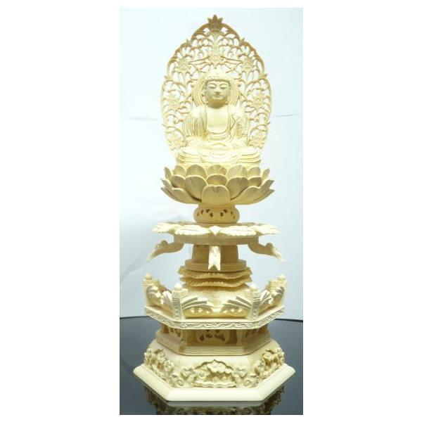 仏像 ご本尊 座釈迦 天人光背 2.5寸|kumano-butu