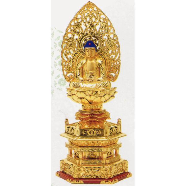 仏像 ご本尊 仏箔押 座釈迦 2.5寸|kumano-butu