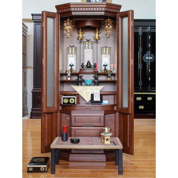 モダン仏壇 国産仏壇 大型仏壇 家具調仏壇 デイジー46号|kumano-butu|05