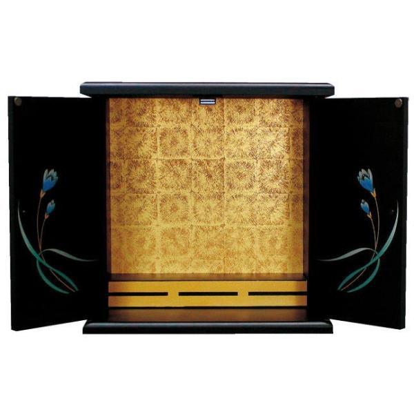 仏壇 国産 漆調 小型仏壇 上置仏壇 ミニ仏壇 ふみの 小(漆調)|kumano-butu|02