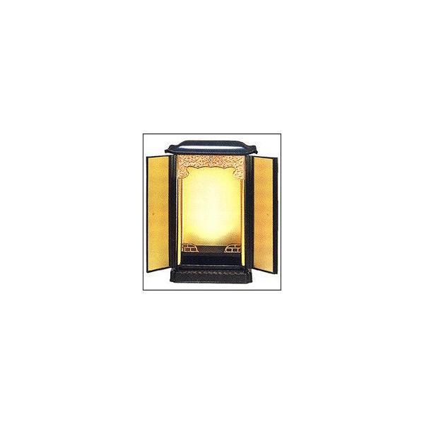 厨子 厨子型仏壇 PC厨子型仏壇 大 黒 総木目 高さ41cm×幅28cm×奥行き23.0cm|kumano-butu