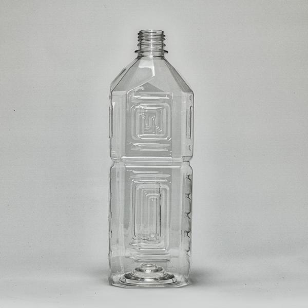 ペットボトル容器・角(1L×50本)28mmキャップ付き