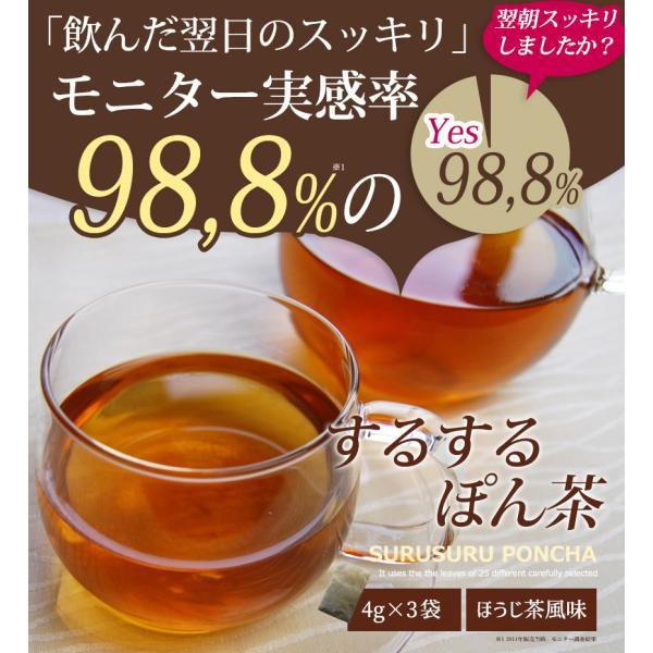 便秘茶 TVで大好評 するするぽん茶 3包 ほうじ茶風味 お試しサイズ 便秘茶/便秘薬/無添加/お茶/食物繊維/ダイエット茶 - 定形外送料無料 -|kumokumo-square|03