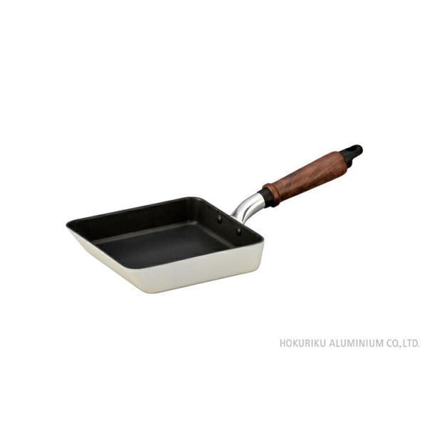 フライパン IHプレール 玉子焼 16×18cm 箱入 ホクア   《  北陸アルミ 玉子焼 テフロンTMプラチナプラス加工 日本製 IH対応 HOKUA 》