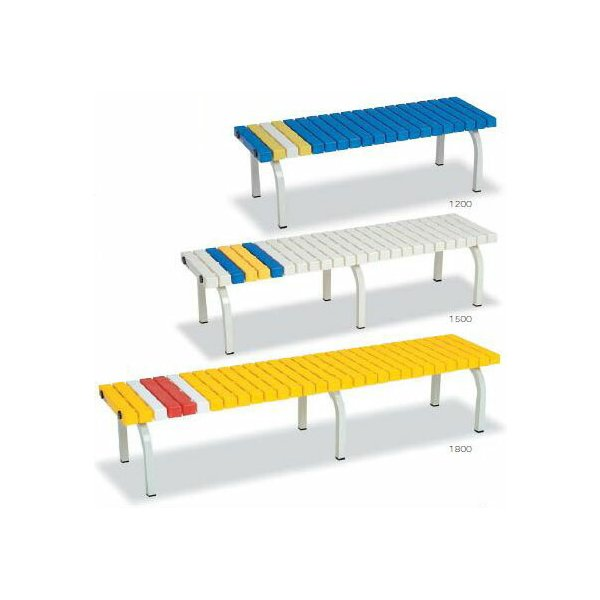 テラモト ホームベンチ 1200 *色をご指定下さい* BC-302-012  【業務用 樹脂製 簡単組み立て ガーデンチェア】