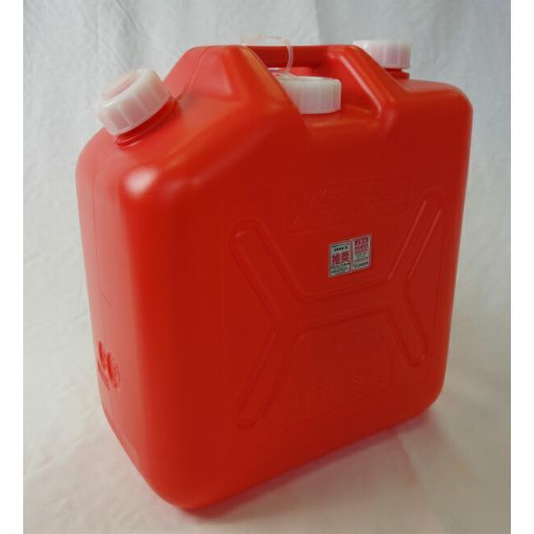 ポリタンク 灯油缶 20L 赤 ノズル付き ハンデー缶 【石油缶 ポリ缶】*3個までが1甲口扱いとなります