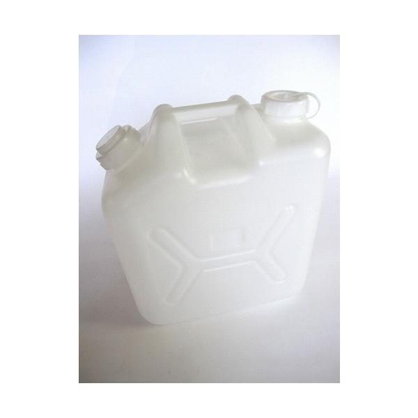 ポリタンク 水缶 20L 白 ノズル付き ハンデー缶 【ポリ缶 水缶 灯油缶】