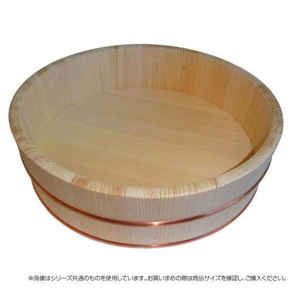 飯台 42cm 国産高級さわら 木製 約1.5升用 【星野工業 寿司桶 サワラ 銅タガ】寿司おけ 飯切り