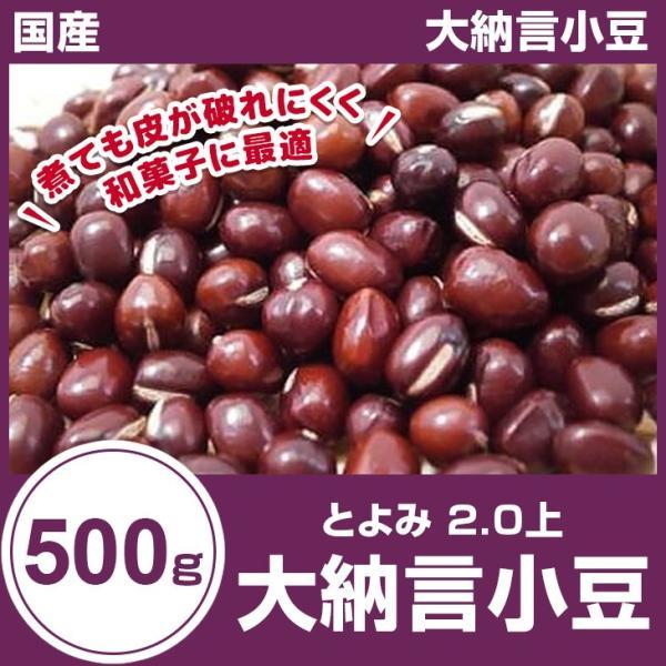 大納言小豆 500g 北海道産 国産 とよみ令和2年秋物  2.0上