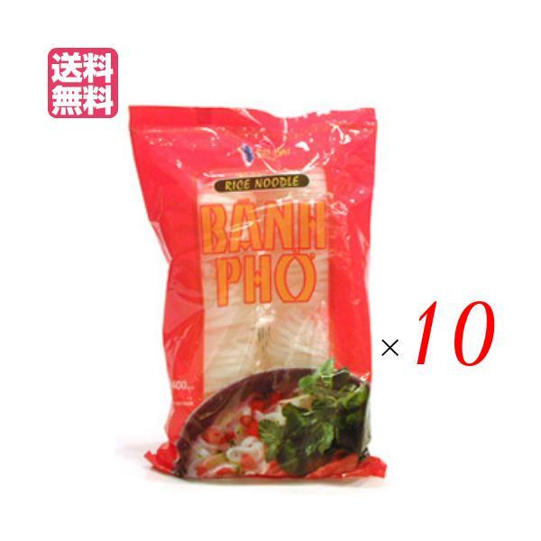 フォー 麺 乾麺 ベトナム アオザイ フォー(ポーションパック)タピオカ入り 50g×8 10袋セット 送料無料