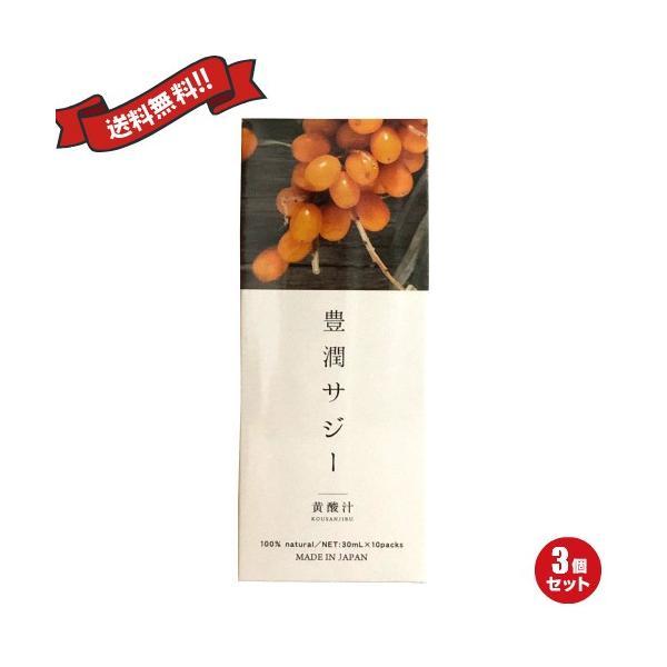 サジージュース サプリ 豊潤サジー スティックタイプ 30ml×10包 3個セット 送料無料
