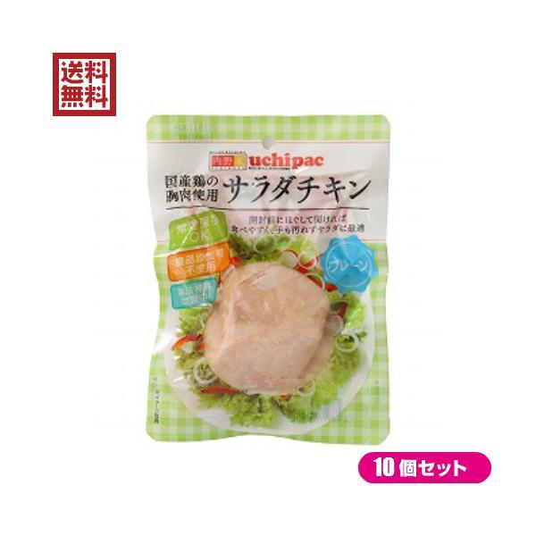 サラダチキン 無添加 国産 ウチノ サラダチキン(プレーン) 100g 10個セット 送料無料
