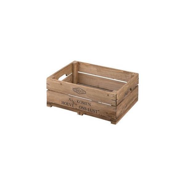 木製 収納ボックス/コンテナボックス 〔ハーフサイズ 幅50×奥行37×高さ20cm〕 杉材 金網 〔リビング 店舗 お店〕