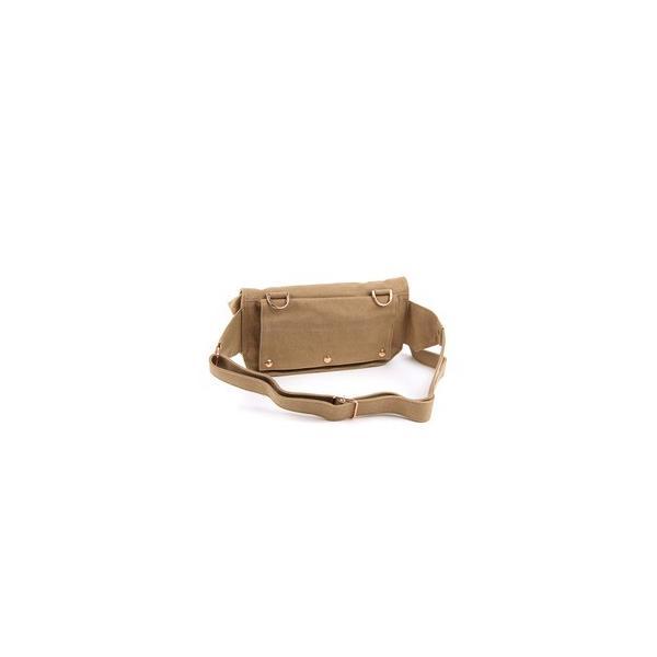 江戸の粋な匠が丁寧に仕上げた江戸帆布2WAYウェストバッグ 日本製 eh-005 ベージュ