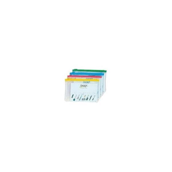 (業務用10セット) LIHITLAB クリアケース/書類入れ 〔B6サイズ/マチなし〕 ビニール製 半透明 横型 F-261 桃