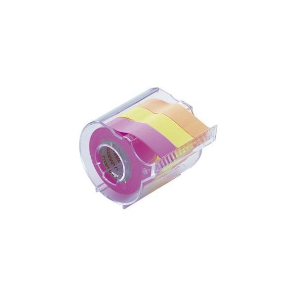 (まとめ) ヤマト メモックロールテープ 本体(蛍光紙) RK-15CH-C ローズ・レモン・オレンジ 1個入 〔×5セット〕