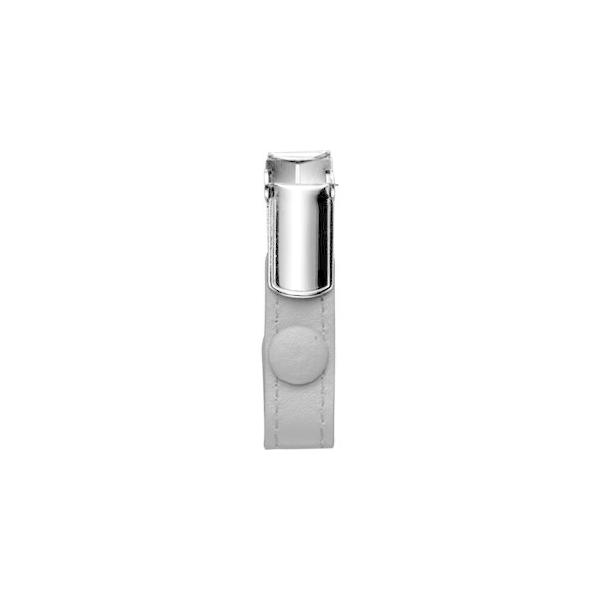 (まとめ) フロント 本革製ネームカードホルダー用クリップ オレンジ RLNHCR-O 1個 〔×20セット〕