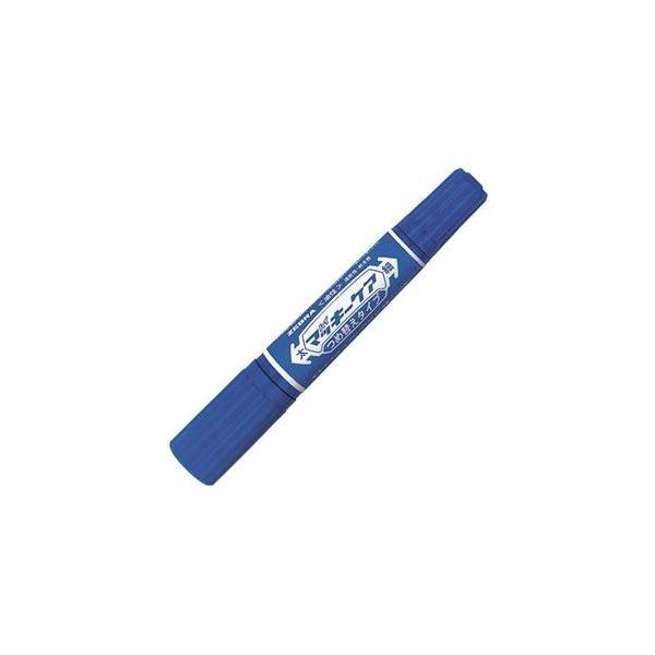 (まとめ) ゼブラ 油性マーカー ハイマッキーケア つめ替えタイプ 太字+細字 青 YYT5-BL 1本 〔×40セット〕