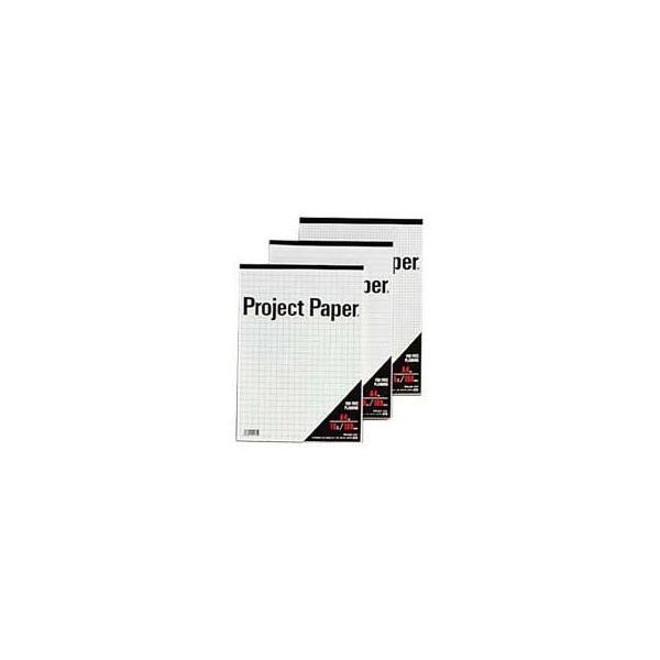 (まとめ) オキナ プロジェクトペーパー A4 10mm方眼 100枚 PPA40S 1冊 〔×15セット〕