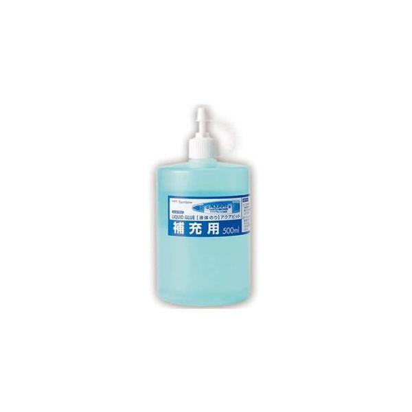 (まとめ) トンボ鉛筆 液体のり アクアピット 補充用 500ml PR-WT 1個 〔×10セット〕
