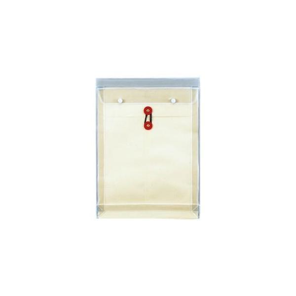 (まとめ) ピース マチヒモ付ビニール保存袋 レザック 角0 184g/m2 白 918 1枚 〔×10セット〕
