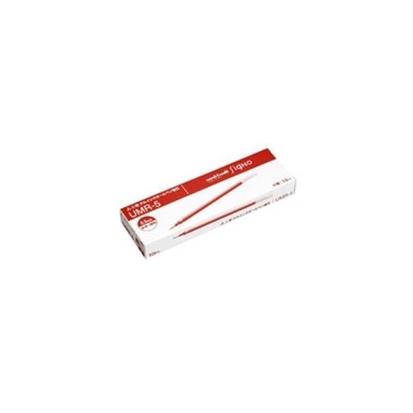 (業務用50セット) 三菱鉛筆 ボールペン替え芯/リフィル 〔0.5mm/赤 10本入り〕 ゲルインク UMR-5