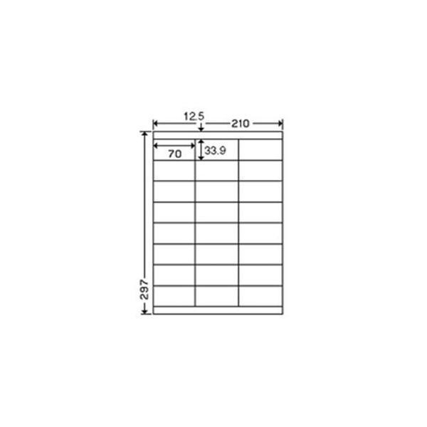 (業務用3セット) 東洋印刷 ナナワードラベル LDZ24U A4/24面 500枚                                                                                                                             PC関連用品 OA用紙 レーザープリンター用ラベル紙  まとめ