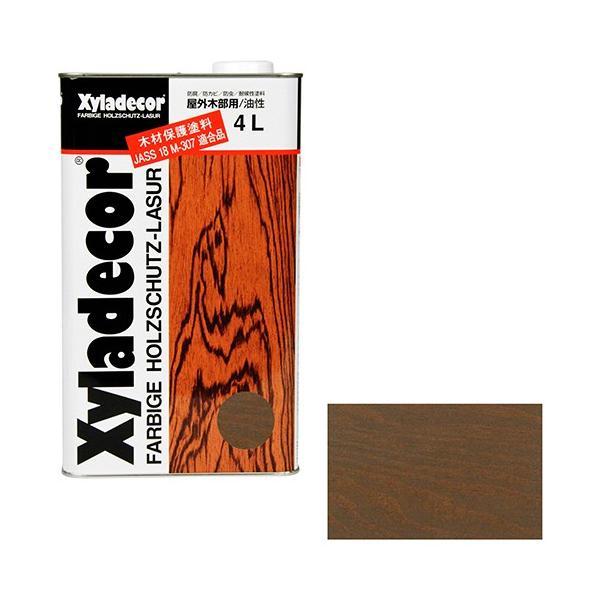 ウッドデッキ 防腐剤 木部の下塗り 色ムラ防止 大阪ガスケミカル・キシラデコール 4L ・105カスタニ