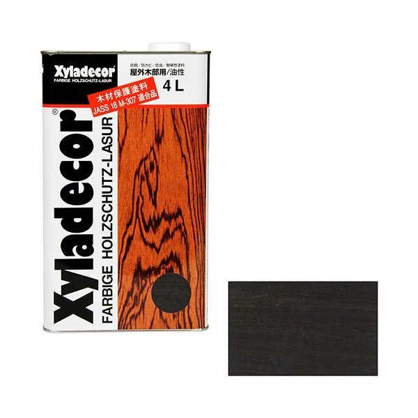 ウッドデッキ 防腐剤 木部の下塗り 色ムラ防止 大阪ガスケミカル・キシラデコール 4L ・108パリサンダ