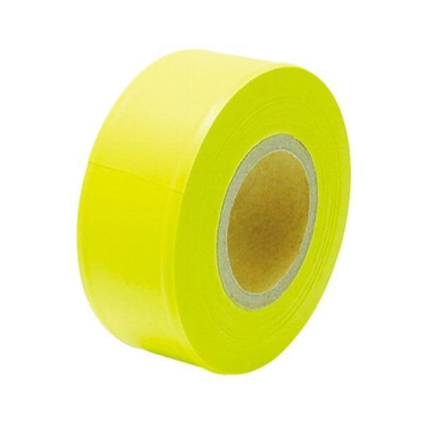 マーキングテープ 黄色 30mm×50M (視認性の高い蛍光色)