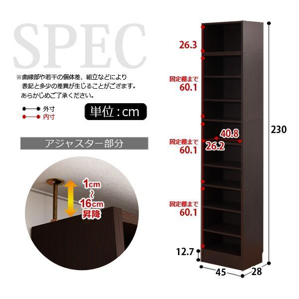 天井つっぱり本棚 本収納 壁面収納 [ht]|kuraki-26|02