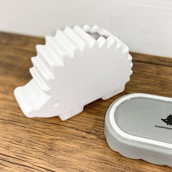 加湿器 気化式 手入れ簡単 おしゃれ インテリア 卓上 小型 陶器 エコ 静音 静か 寝室 リビング ハリネズミ 同梱区分直送AB4573298|kuraking|02