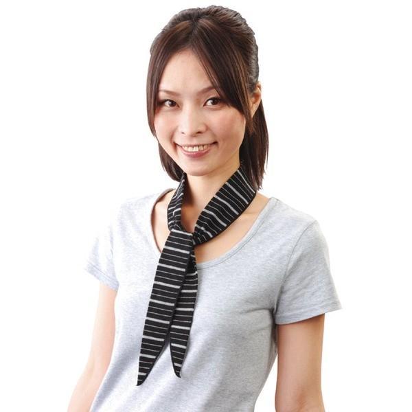 ネッククーラー 冷感スカーフ COOL BORDER 2色組み 日本製 熱射病対策 日焼け防止 同梱区分直送TS1102|kuraking|05