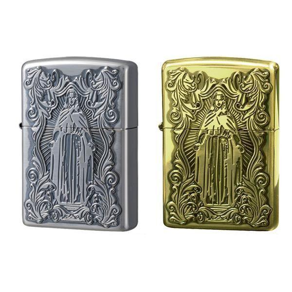 送料無料 ZIPPO(ジッポー) ライター ディープエッチング アラベスクマリア 真鍮いぶし・63200598