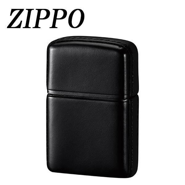 送料無料 ZIPPO 革巻 松阪牛 ブラック