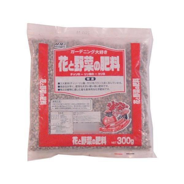 送料無料 代引き・同梱不可 あかぎ園芸 花と野菜の肥料 (チッソ8・リン酸8・カリ8) 300g 30袋