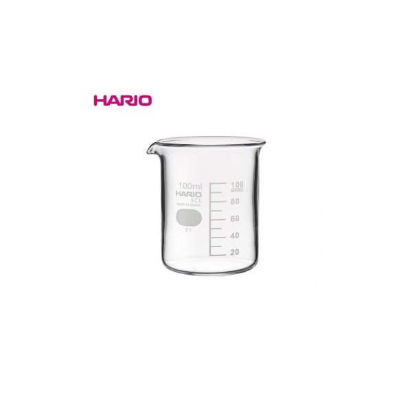 送料無料 代引き・同梱不可 HARIO ハリオ B-100 SCI ビーカ-100ml 6個入り