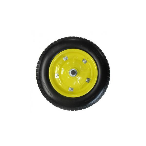送料無料 代引き・同梱不可 一輪車用ソフトノーパンクタイヤ 13インチ SR-1302A-PU(YB)