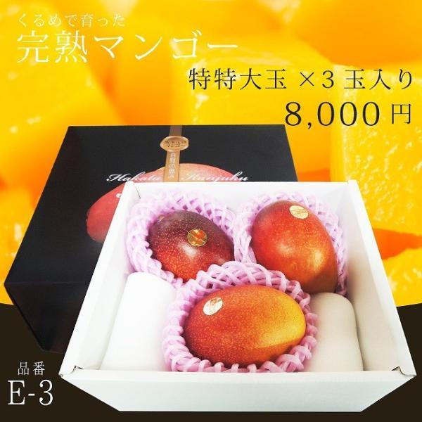 【品番E-3】特特大玉×3玉入り くるめで育った完熟マンゴー|kurashige-nouen