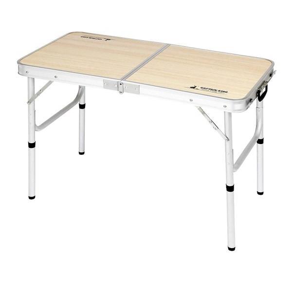キャプテンスタッグ UC-529 ジャストサイズ レジャーシートが入るトランクテーブル 【2~4人用 テーブルサイズ90x45cm】