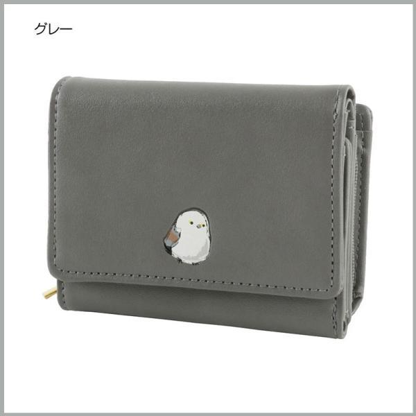 FLAPPER 三つ折り 財布 レディース コンパクト カードポケット 小銭ポケット ファスナー開閉 小鳥 おしゃれ おすすめ かわいい 人気 キャラクターグッズ|kurashikan|02