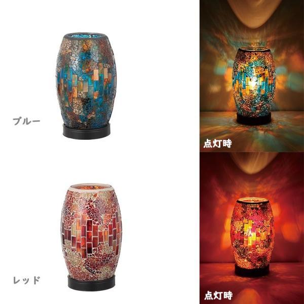 モザイク ランプ ランタン ライト卓上照明 部屋 白熱電球付 テーブルランプ 常夜灯 補助照明 小型ランタン おしゃれ|kurashikan|02