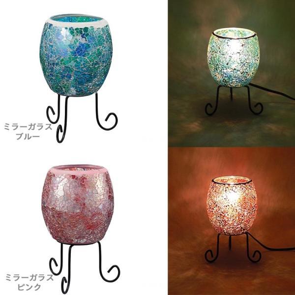 モザイク ランプ ランタン ライト 小型ランタン 部屋 白熱電球付 テーブルランプ 常夜灯 補助照明 卓上照明 おしゃれ|kurashikan|02