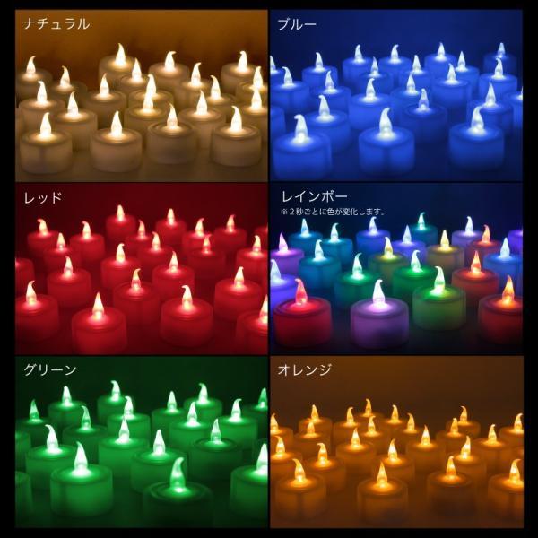 LEDキャンドルライト ゆらぎオレンジ 24個セット 電池式 ledキャンドル ハロウィン クリスマス パーティ 誕生日 結婚式 ろうそく 蝋燭 kurashikan 11