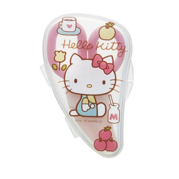 ハローキティ Hello Kitty 離乳食フードカッター ケース付き 離乳食 調理セット ハサミ ベビー プレゼント 出産お祝い ギフト かわいい キャラクター グッズ kurashikan 02