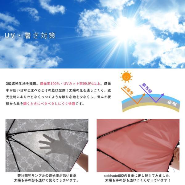 日傘 折りたたみ 完全遮光 晴雨兼用 軽量 折りたたみ傘 UVカット 100% 遮光 遮熱 折りたたみ日傘 レディース おしゃれ かわいい フリル|kurashikan|04
