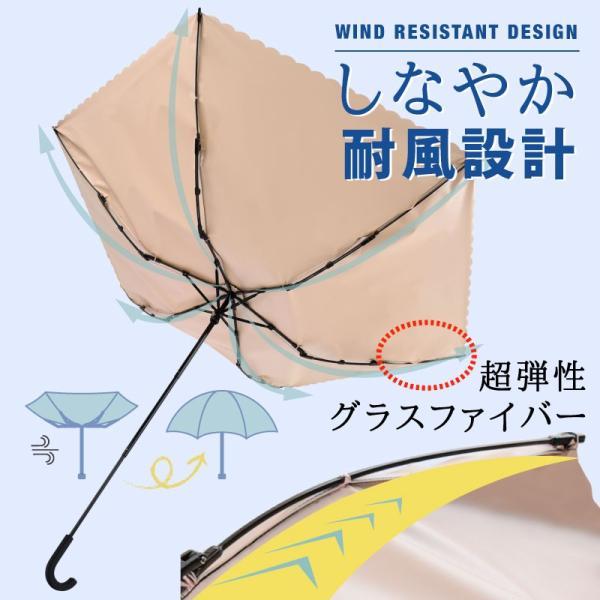 日傘 完全遮光 折りたたみ 晴雨兼用 軽量 UVカット 折りたたみ傘 100% 遮光 遮熱 傘 レディース おしゃれ かわいい|kurashikan|03
