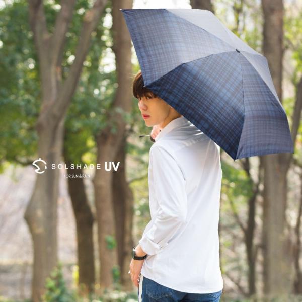 日傘 折りたたみ傘 solshade メンズ 晴雨兼用 完全遮光 超軽量 おしゃれ UVカット 100% 遮光 遮熱 折りたたみ 傘 コンパクト 丈夫 耐風 男性用 ネイビー|kurashikan|16