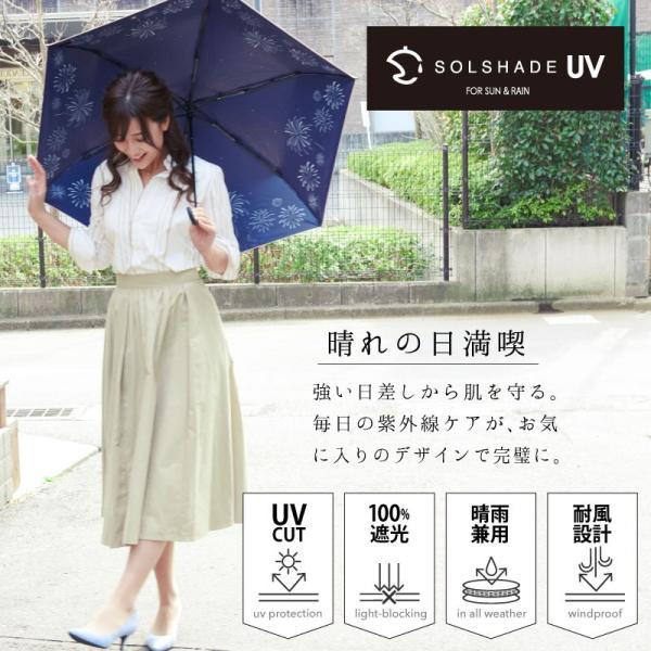 日傘 折りたたみ 完全遮光 晴雨兼用 軽量 UVカット 遮光 遮熱 100% 折りたたみ傘 折り畳み 傘 レディース おしゃれ かわいい 母の日 ギフト プレゼント|kurashikan|08