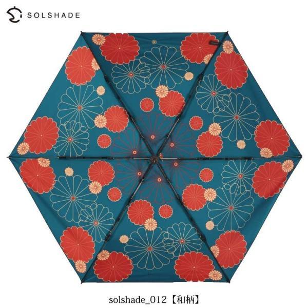 日傘 完全遮光 折りたたみ 晴雨兼用 軽量 UVカット 遮光 遮熱 100% 折りたたみ傘  3段折り畳み 傘 和柄 ブラック レディース 母の日 ギフト プレゼント kurashikan 07